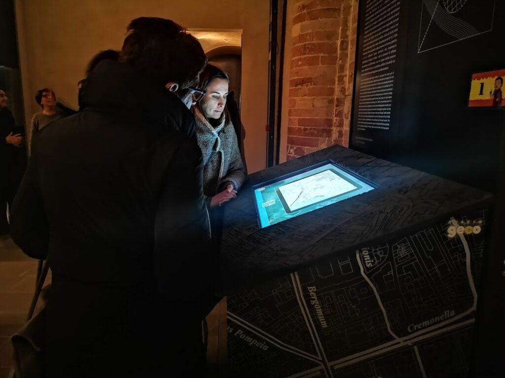 Il tavolo multimediale per Cremona romana