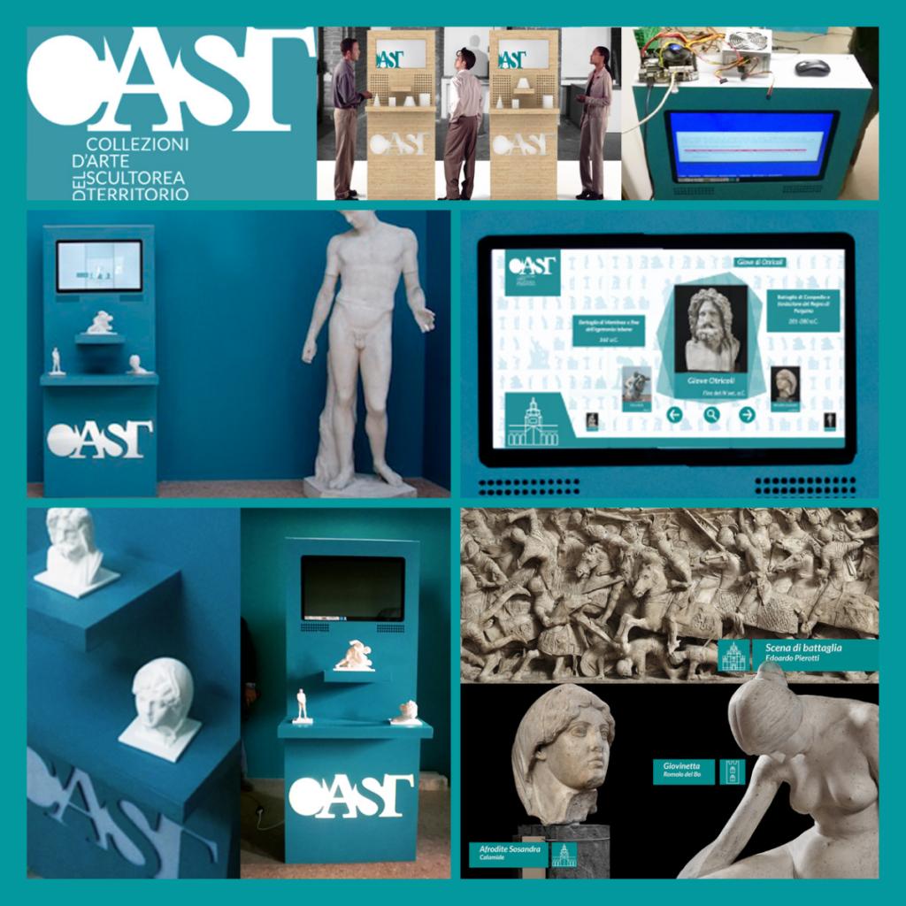 Pavia, progetto CAST. Totem Multimediali Interattivi per Musei con Stampe in 3D. Innovazione e progresso digitale